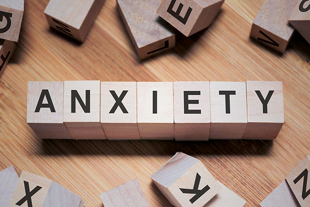 """blocks spelling out the word """"anxiety"""""""
